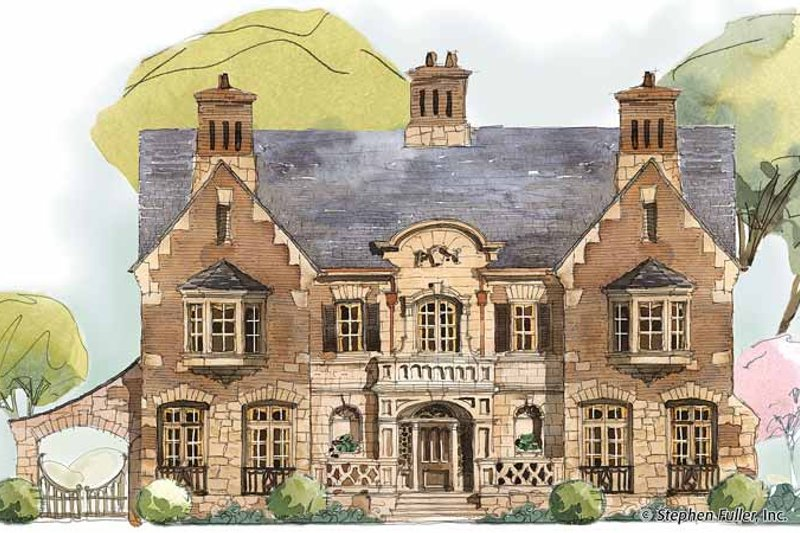 Dream House Plan - Country Exterior - Front Elevation Plan #429-353