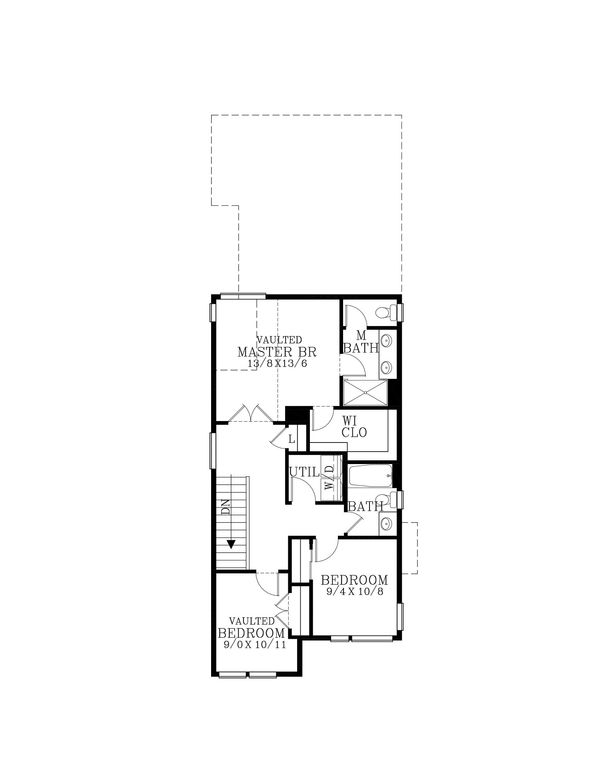 Contemporary Floor Plan - Upper Floor Plan Plan #53-614