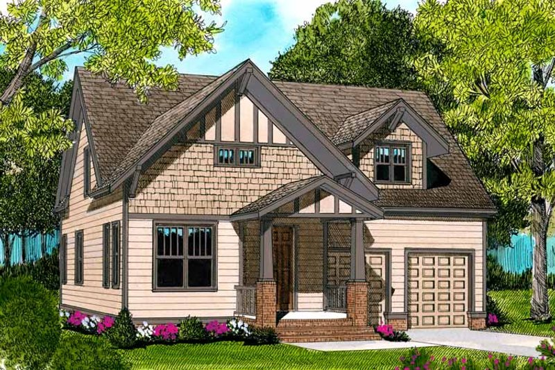 Craftsman Exterior - Front Elevation Plan #413-895 - Houseplans.com
