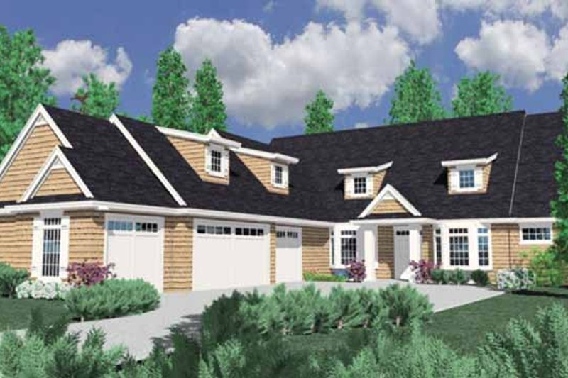 Traditional Exterior - Front Elevation Plan #509-383 - Houseplans.com