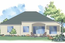Mediterranean Exterior - Rear Elevation Plan #930-374