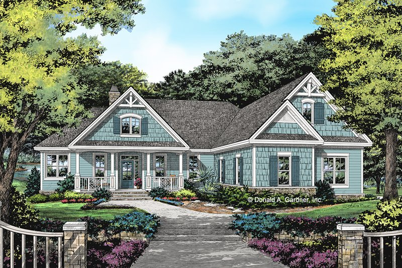 Craftsman Style House Plan - 3 Beds 3 Baths 1871 Sq/Ft Plan #929-1058 Exterior - Front Elevation