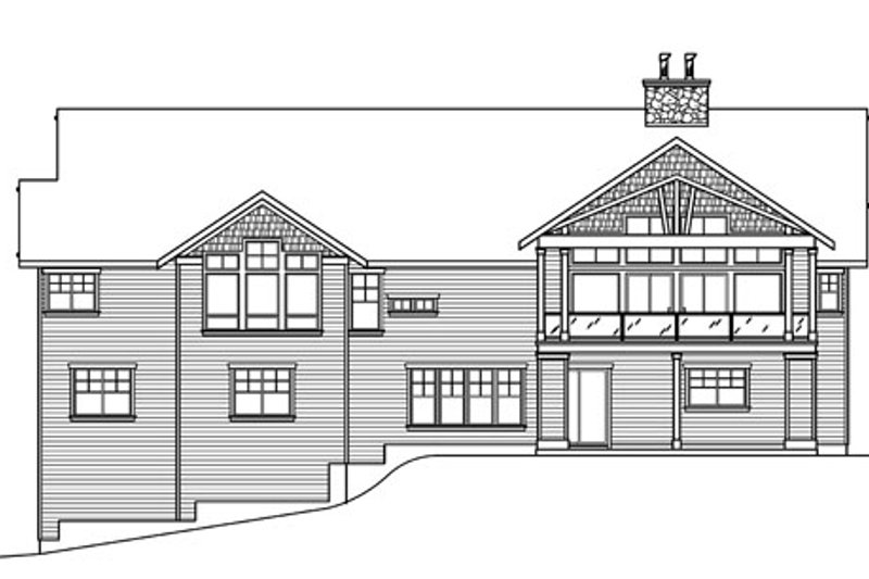 Craftsman Exterior - Rear Elevation Plan #124-753 - Houseplans.com