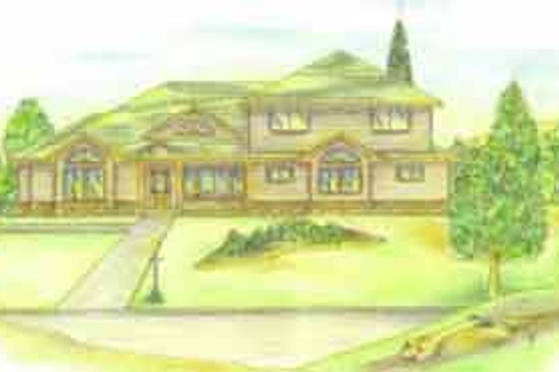Traditional Exterior - Front Elevation Plan #117-224 - Houseplans.com