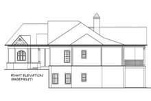 Home Plan - Right Side Elevation With Optional Basement