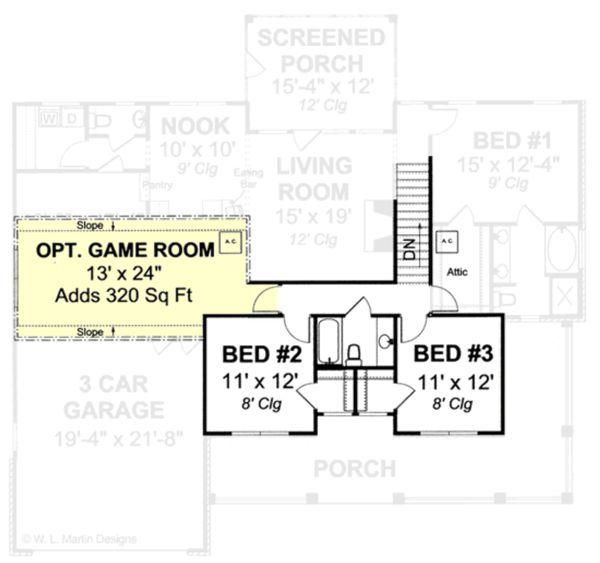 Country Floor Plan - Upper Floor Plan #513-2051