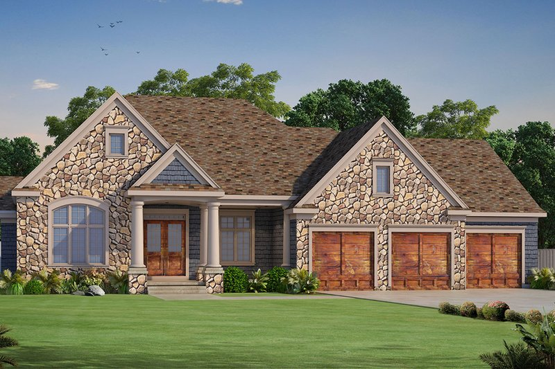 Architectural House Design - Ranch Exterior - Front Elevation Plan #20-2284