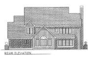 Country Style House Plan - 3 Beds 2.5 Baths 2949 Sq/Ft Plan #70-464 Exterior - Rear Elevation