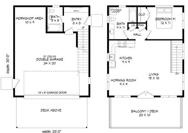 Modern Floor Plan - Main Floor Plan Plan #932-38