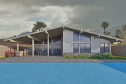 Contemporary Style House Plan - 4 Beds 2.5 Baths 2019 Sq/Ft Plan #489-6 Exterior - Rear Elevation