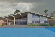 Architectural House Design - Contemporary Exterior - Rear Elevation Plan #489-6