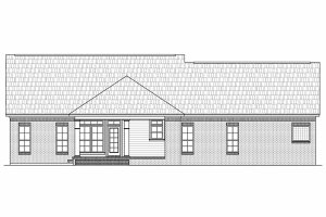 Country Exterior - Rear Elevation Plan #21-197