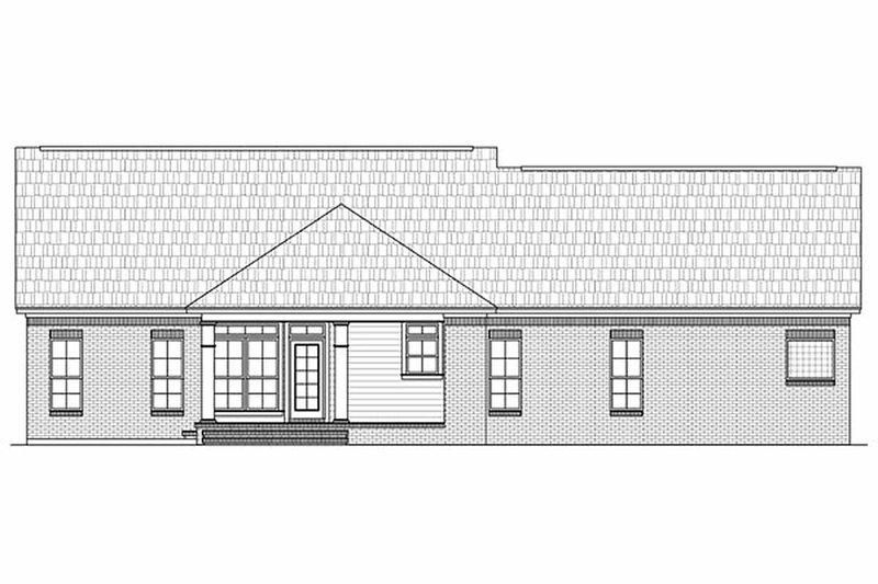Country Exterior - Rear Elevation Plan #21-197 - Houseplans.com