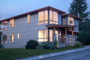 Contemporary Style House Plan - 3 Beds 3 Baths 3315 Sq/Ft Plan #1066-54 Exterior - Other Elevation