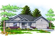 Traditional Style House Plan - 3 Beds 2 Baths 1461 Sq/Ft Plan #70-131