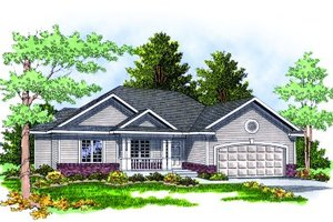 Traditional Exterior - Front Elevation Plan #70-131
