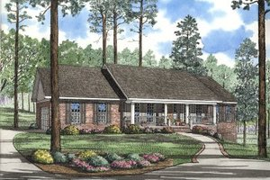 Traditional Exterior - Front Elevation Plan #17-1036