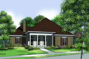 Traditional Exterior - Front Elevation Plan #45-310