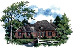House Plan Design - European Exterior - Front Elevation Plan #45-291