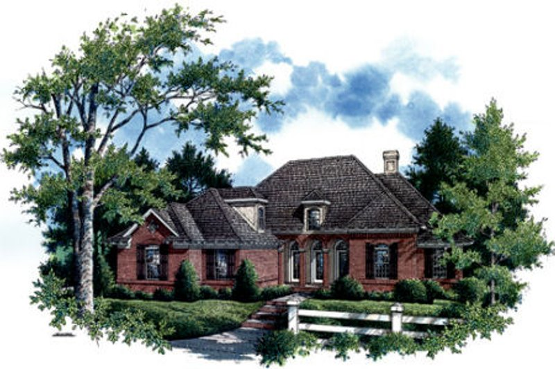 European Exterior - Front Elevation Plan #45-291