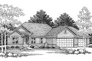 Traditional Style House Plan - 3 Beds 2 Baths 1676 Sq/Ft Plan #70-168 Exterior - Front Elevation