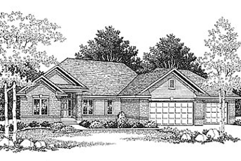 Traditional Exterior - Front Elevation Plan #70-168 - Houseplans.com