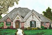 European Style House Plan - 4 Beds 2.5 Baths 2112 Sq/Ft Plan #310-1289 Exterior - Front Elevation
