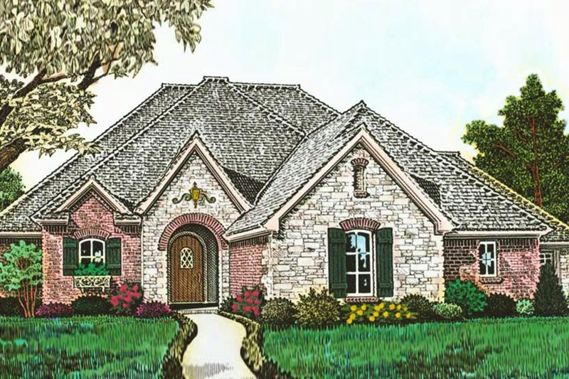 European Exterior - Front Elevation Plan #310-1289