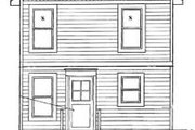 Cottage Style House Plan - 3 Beds 1.5 Baths 976 Sq/Ft Plan #50-237 Exterior - Rear Elevation