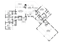 Contemporary Floor Plan - Main Floor Plan Plan #48-1014