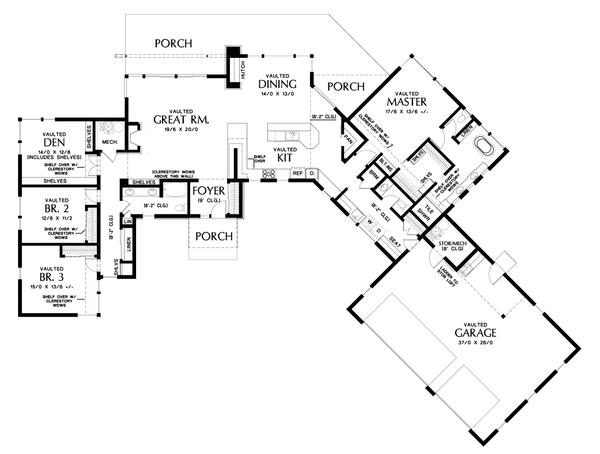 House Plan Design - Contemporary Floor Plan - Main Floor Plan #48-1014