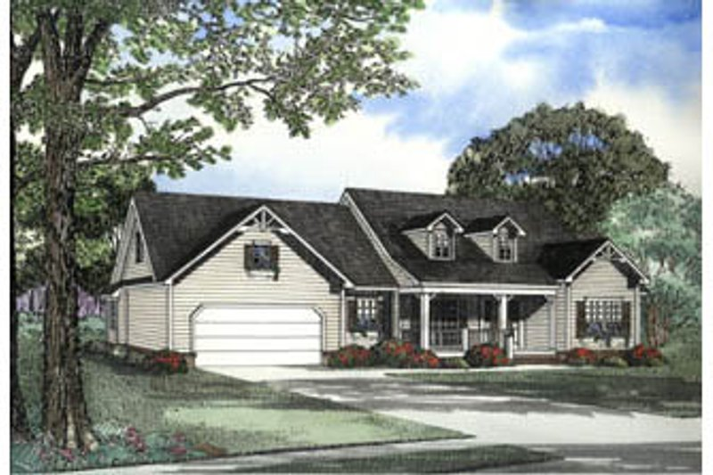 Architectural House Design - Country Exterior - Front Elevation Plan #17-1151