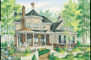 Victorian Style House Plan - 3 Beds 1 Baths 2282 Sq/Ft Plan #25-4759 Exterior - Front Elevation