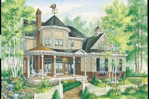 Victorian Exterior - Front Elevation Plan #25-4759