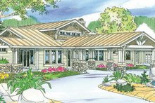 Dream House Plan - Craftsman Exterior - Front Elevation Plan #124-737
