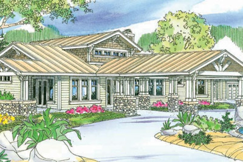 Craftsman Exterior - Front Elevation Plan #124-737