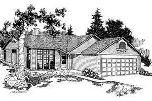 Traditional Exterior - Front Elevation Plan #60-121