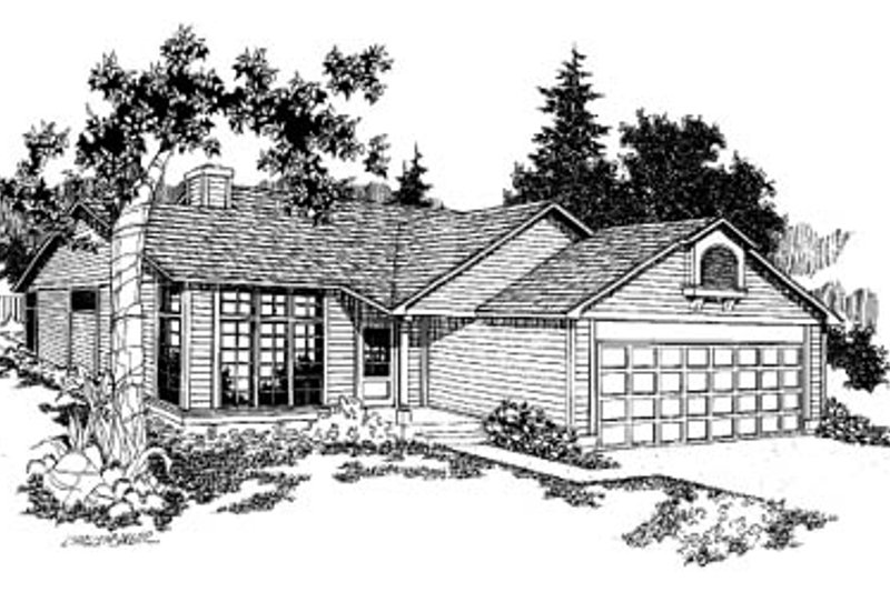 Traditional Exterior - Front Elevation Plan #60-121 - Houseplans.com