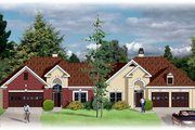 European Style House Plan - 2 Beds 2 Baths 3246 Sq/Ft Plan #26-119 Exterior - Front Elevation