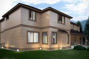 Contemporary Style House Plan - 4 Beds 4.5 Baths 4134 Sq/Ft Plan #1066-16 Exterior - Other Elevation