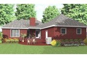 Traditional Style House Plan - 3 Beds 2 Baths 1600 Sq/Ft Plan #406-142 Exterior - Rear Elevation