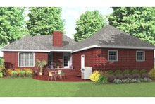 Dream House Plan - Traditional Exterior - Rear Elevation Plan #406-142