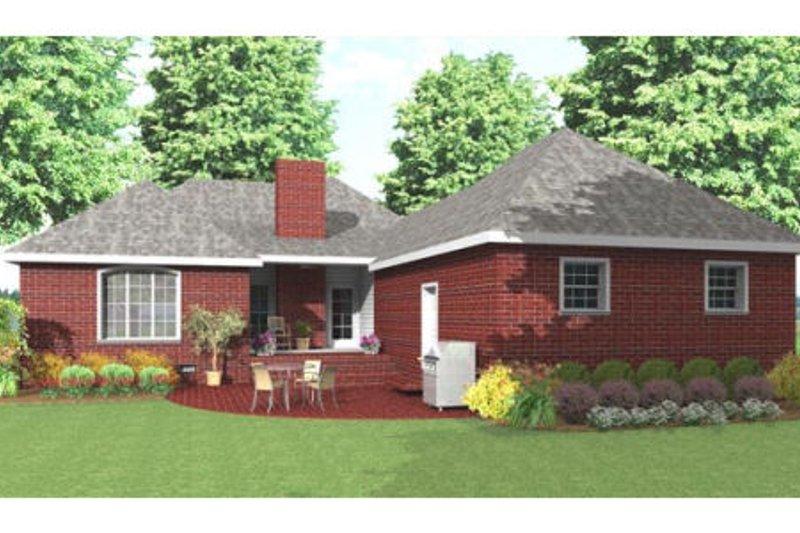 Traditional Exterior - Rear Elevation Plan #406-142 - Houseplans.com