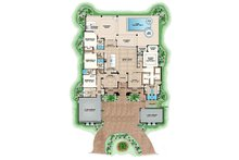 Mediterranean Floor Plan - Main Floor Plan Plan #1017-166