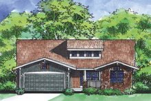 Dream House Plan - Ranch Exterior - Front Elevation Plan #320-827