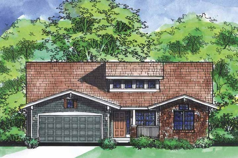 Ranch Exterior - Front Elevation Plan #320-827