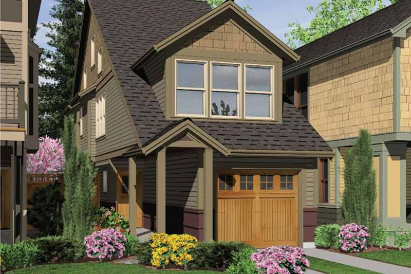 Dream House Plan - Craftsman Exterior - Front Elevation Plan #48-814