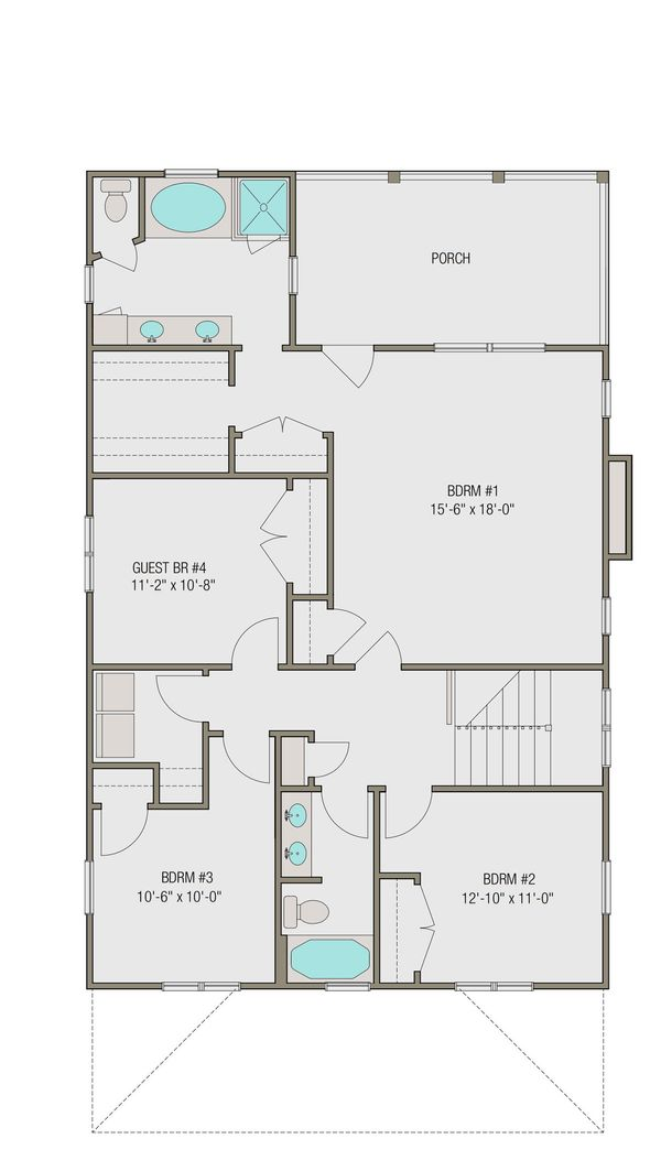 Prairie Floor Plan - Upper Floor Plan Plan #461-49