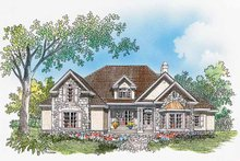 Country Exterior - Front Elevation Plan #929-331