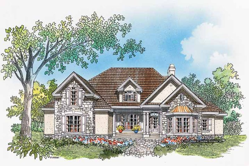 Home Plan - Country Exterior - Front Elevation Plan #929-331